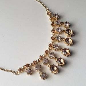 Gold and Topaz Statement Necklace